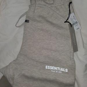 (NWT) fog essentials oatmeal sweat shorts